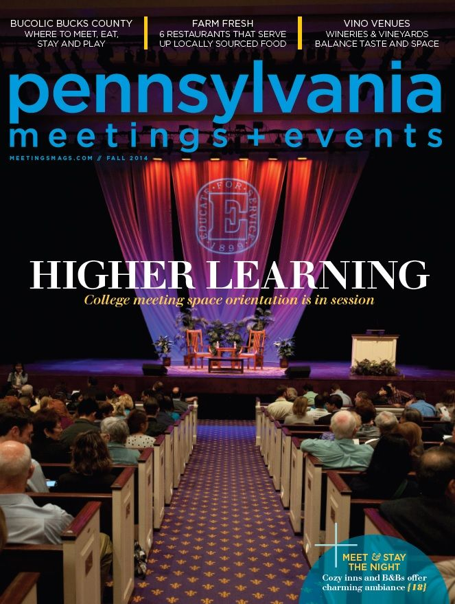 Pennsylvania Meetings + Events Magazine Fall 2014 http