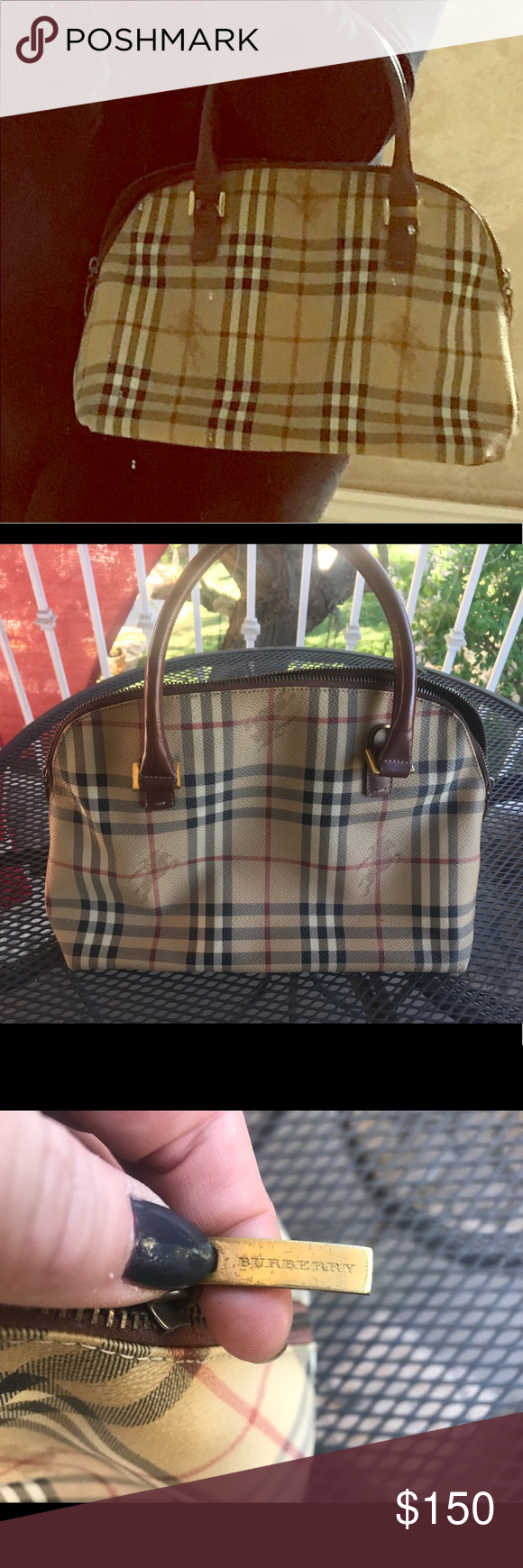 Used Authentic Burberry Handbags