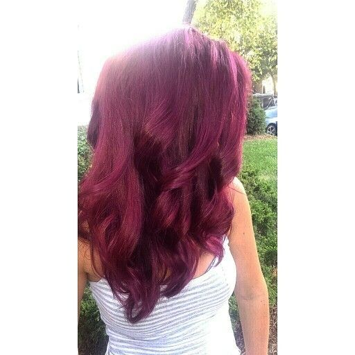 pravana vivids wild orchid red and a touch of violet hair color by madison kennington violet red red hair magenta hair by virginia oliver - Pravana Wild Orchid Hair Color