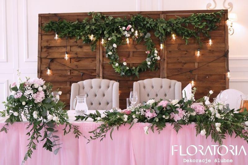 Góra Dekoracja stołu Pary Młodej #wedding #kwiaty #wesele #love #ślub FH81
