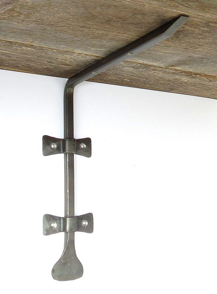 "Wrought Iron 10/"" Shelf Bracket Handmade Country Antique Metal Wall Decor Holder"