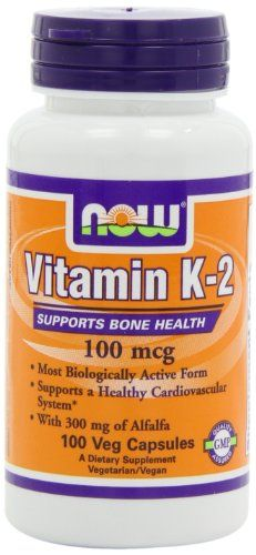 NOW Foods Vitamin  K-2,100mcg,  100 Vcaps >>> Want additional info? Click on the image.