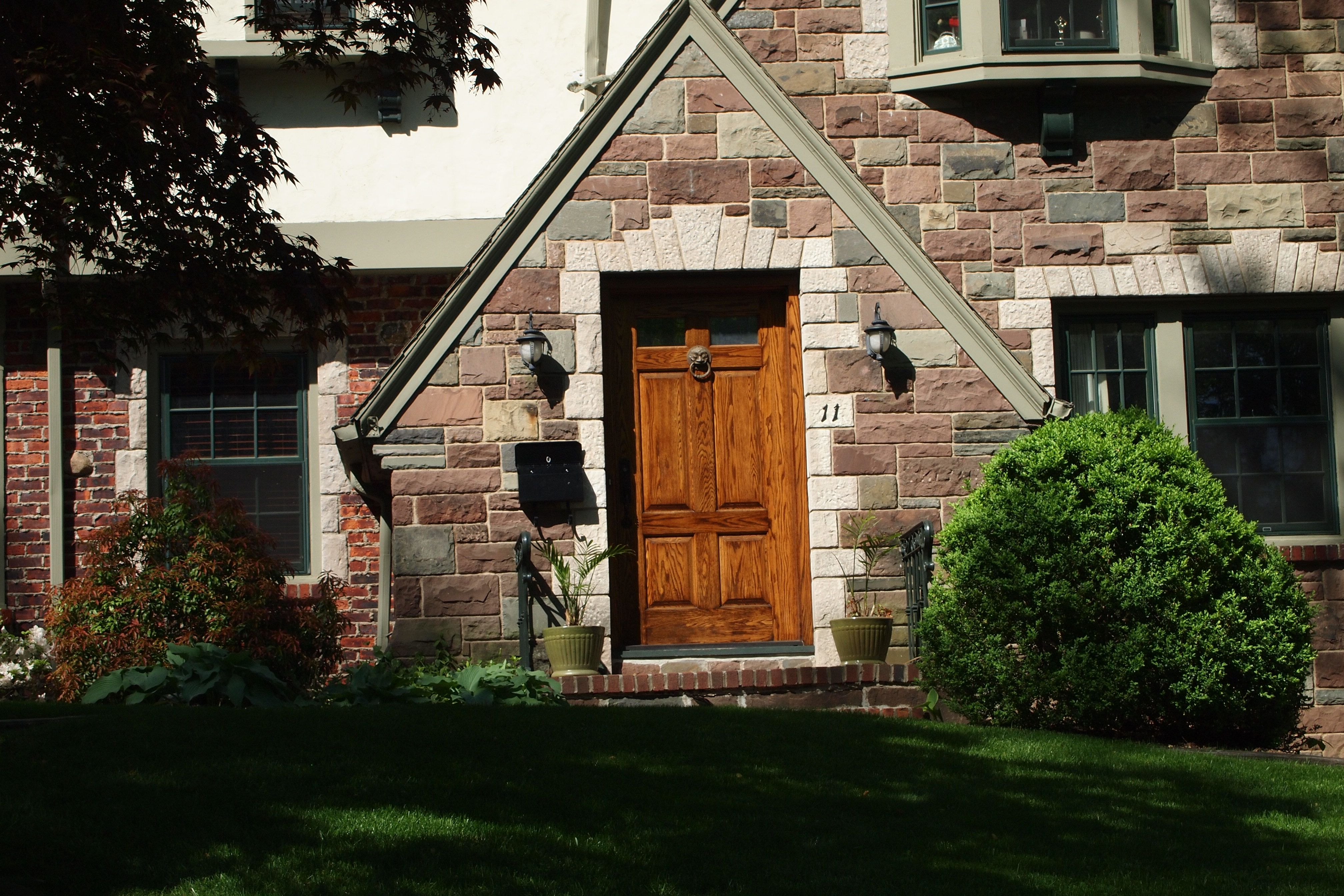 Dutch Colonial Black Front Door Maplewood Tudor Entry Ideas For The House