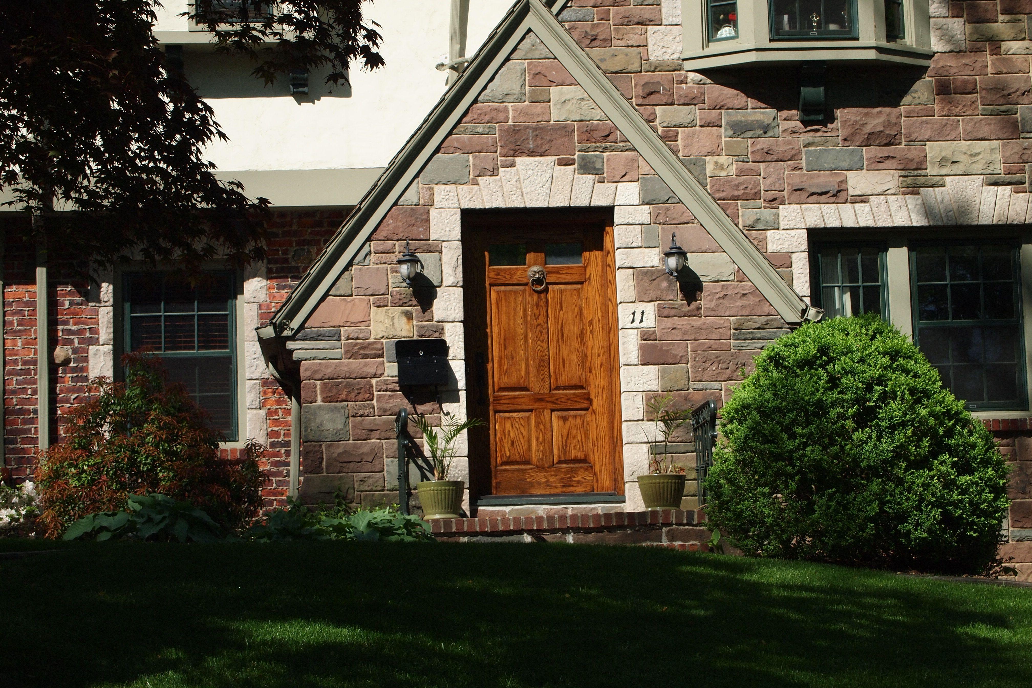 Dutch Colonial Black Front Door Maplewood Tudor Entry Front Door Dutch Colonial House Styles