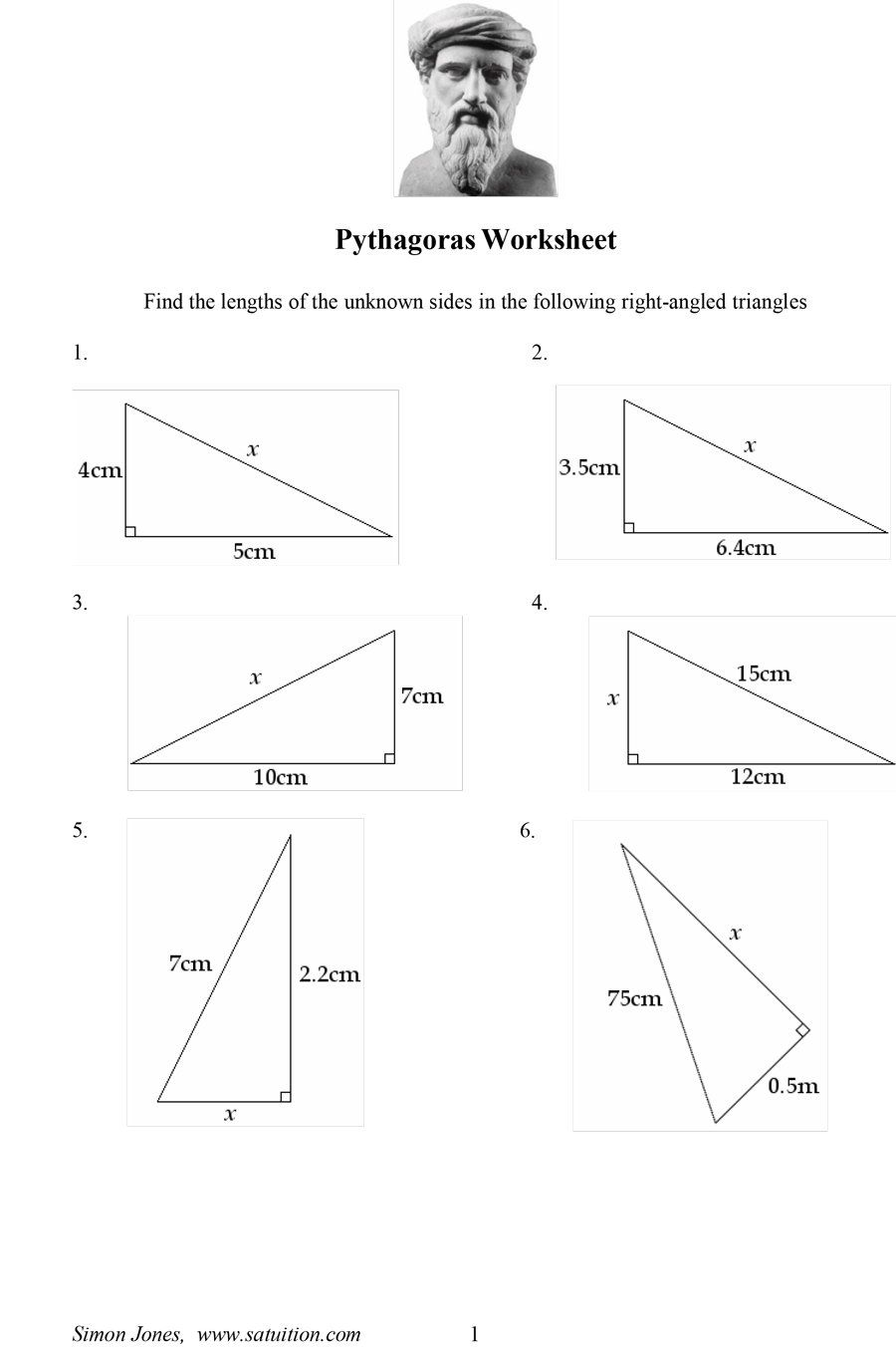 40 Innovative Pythagorean Theorem Worksheet For You With Images