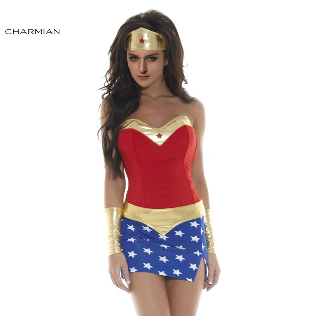 sexy women cosplay costume super heroine costume adult fantasias superhero halloween costume for women