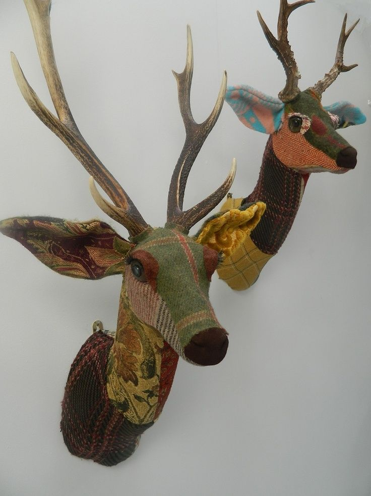 Fabric Deer Head Sewing Pattern My Kid Loves These And