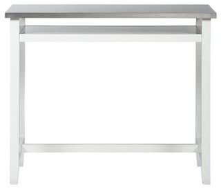Belmont White Work Table With Stainless Steel Top Modern Desks By Crate Barrel Standing Work Table Stainless Steel Work Table