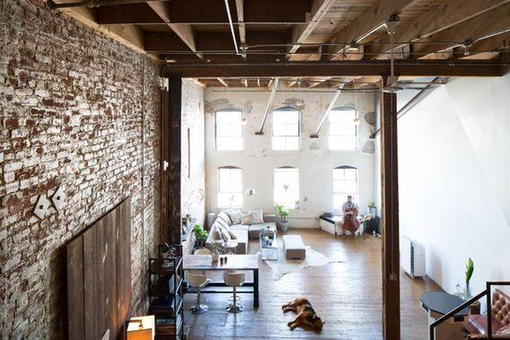 Amber Ryan S Make It Work Loft Brick Loft House Living Spaces