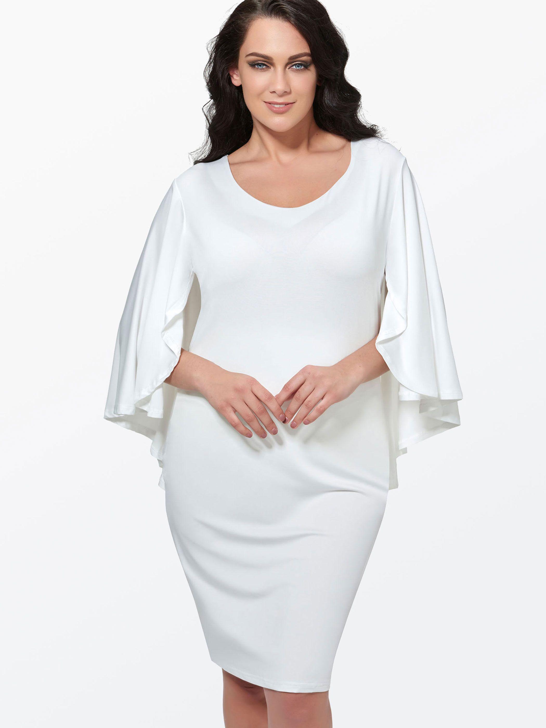 White Open Back Women S Plus Size Dress Plus Size Bodycon Dresses Women Bodycon Dress White Dresses For Women [ 2800 x 2100 Pixel ]