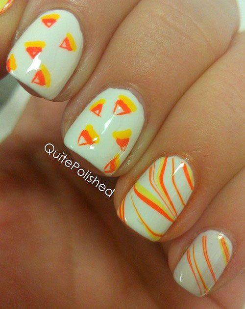 Candy Corn Fingernail Painting Ideas Httpfabnailartdesigns
