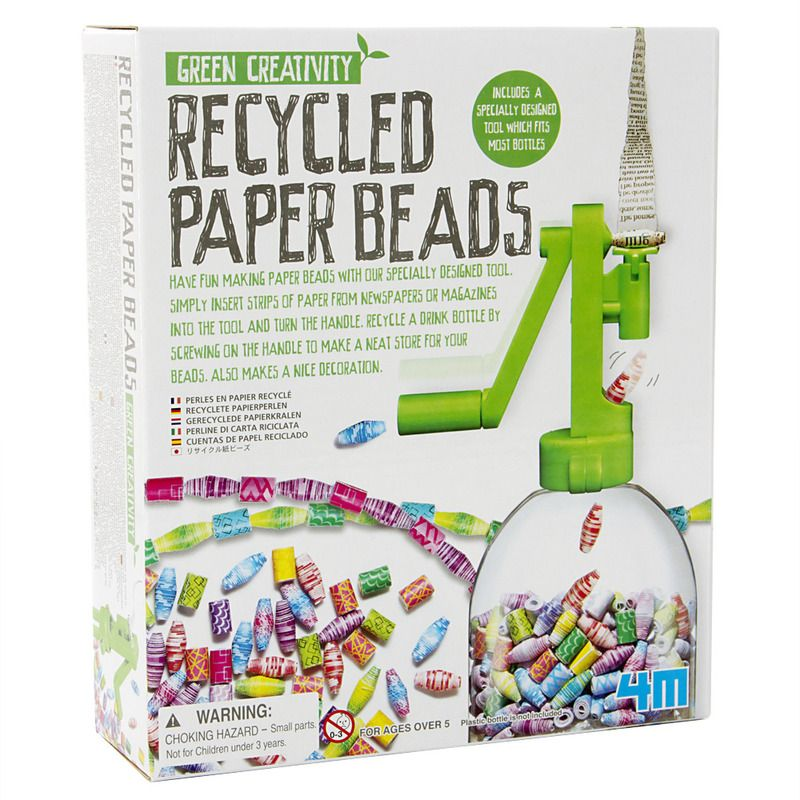Recycled Paper Beads paper jewelry kits for kids by Green Creativity
