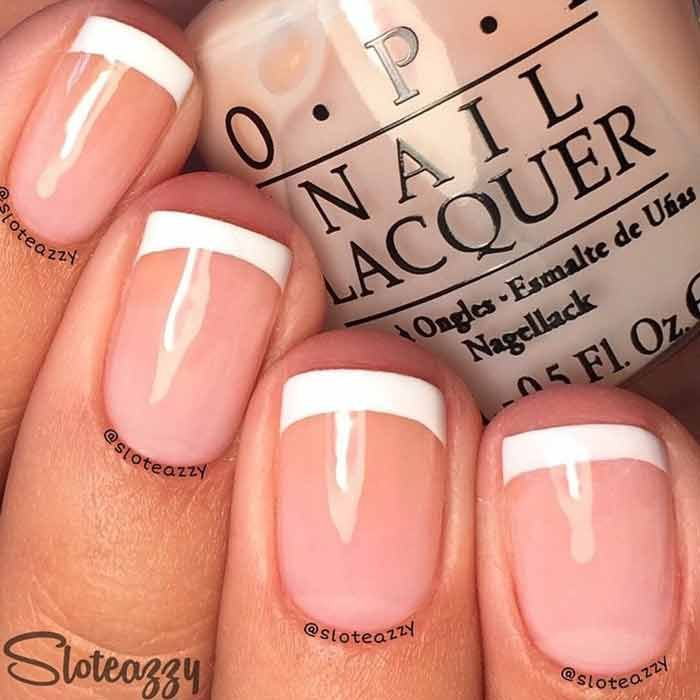 Top 60 Easy Nail Designs For Short Nails - 2018 Update | Pinterest ...
