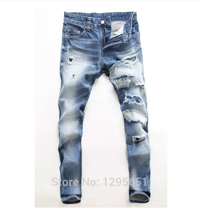 Free-Shipping-Men-New-Autumn-Winter-Ripped-Jeans-Figure-Flattering ...