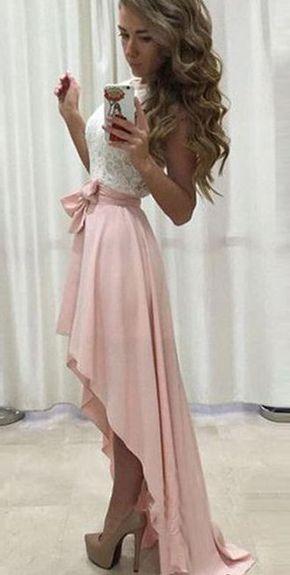 Short Front Long Back Prom Dresses,Homecoming Dresses,Elegant Prom ...