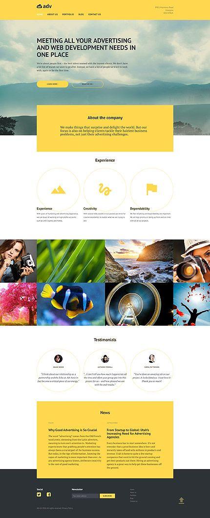 Digital Advertising Agency #Wordpress #template. #themes #business ...