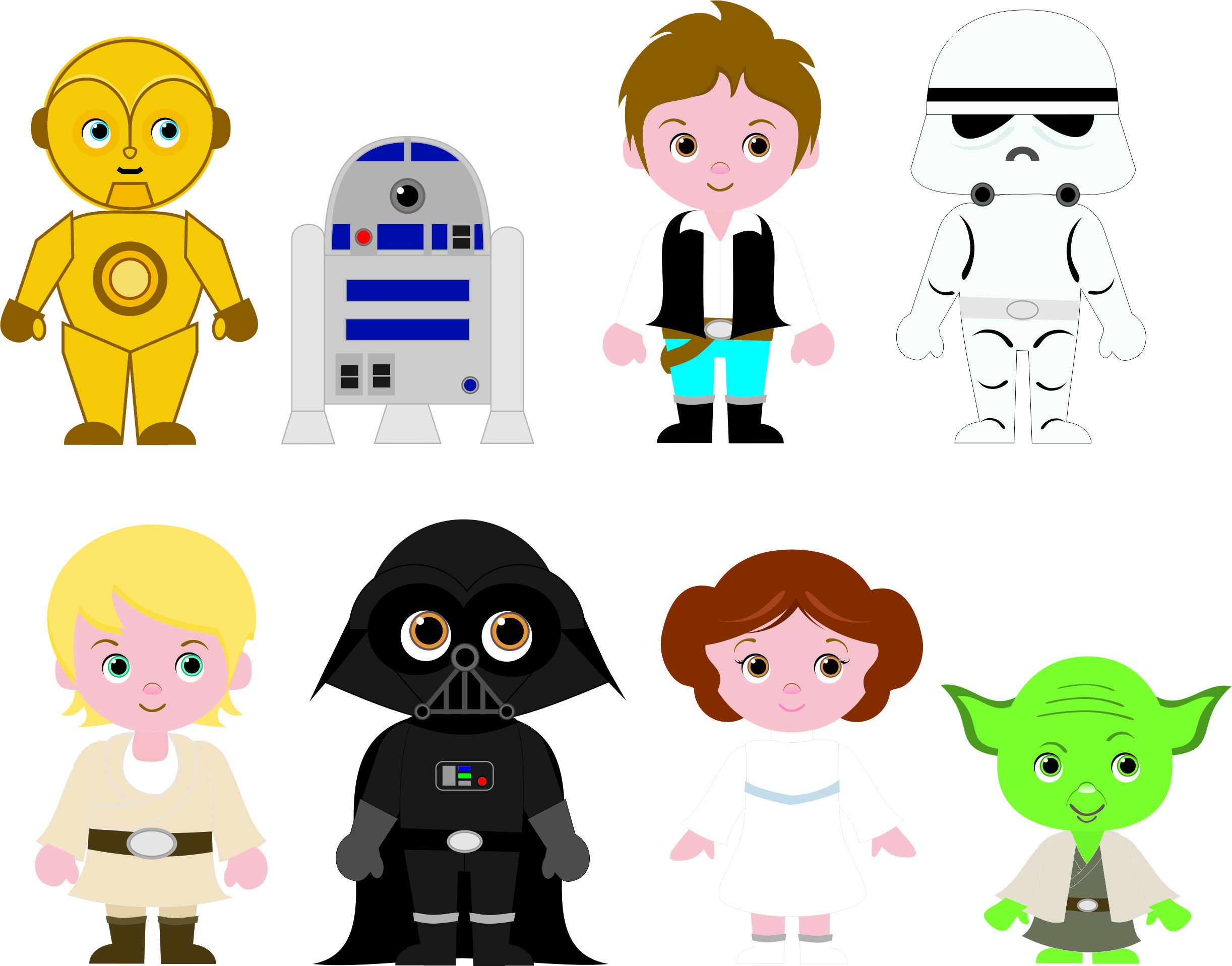 Cliparts Fofinhos Para Festa Star Wars Cute Cliparts For Star Wars Party