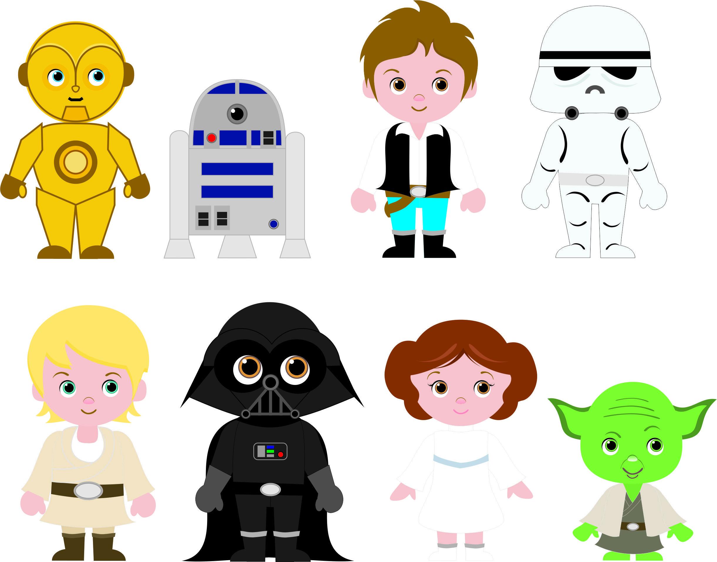 Cliparts Fofinhos Para Festa Star Wars Cute Cliparts For Star Wars Party