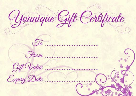 Younique Gift Certificate by OpulentGraphics on Etsy ...