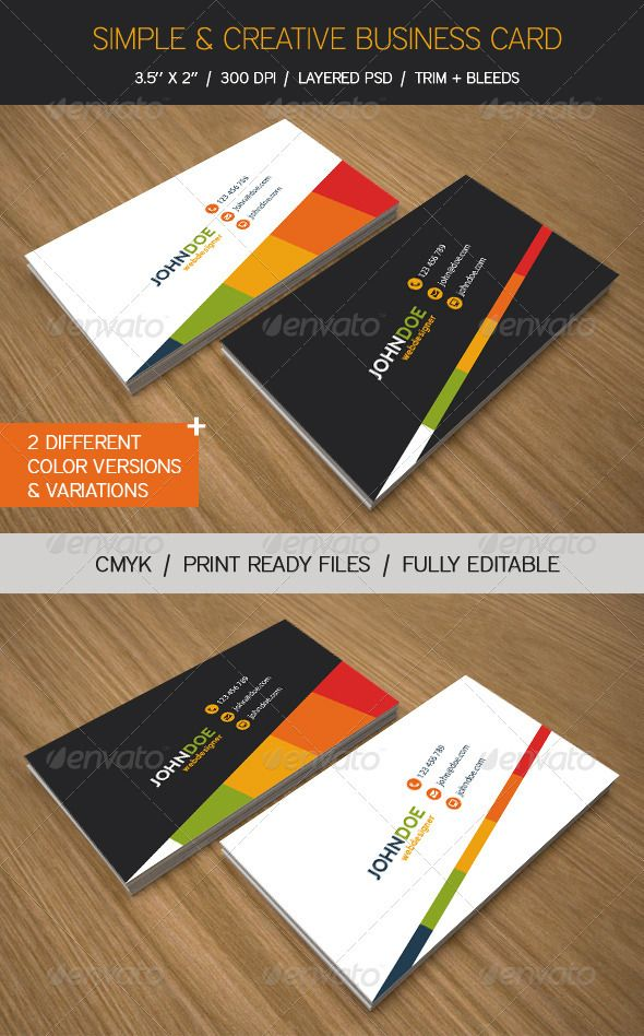 Simple & Creative Business Cards | Business cards, Business and Icon ...