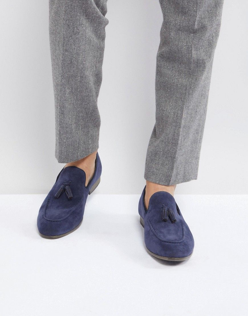 Faux Suede Loafers In Navy - Navy New Look StRUui5ow