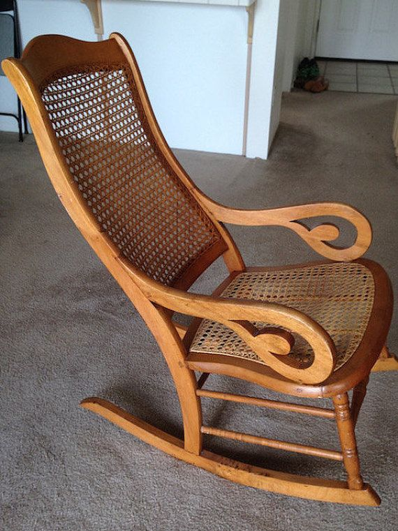 Antique Maple Lincoln Rocking Chair
