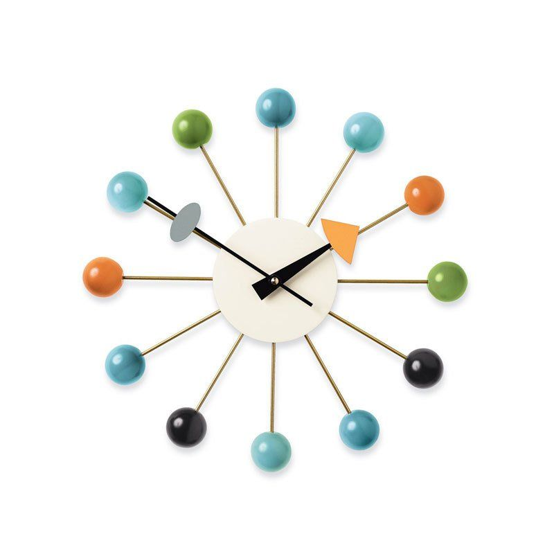 Vitra Nelson Ball Clock By Design Within Reach Nelson Ball Clock Nelson Clock George Nelson Clocks