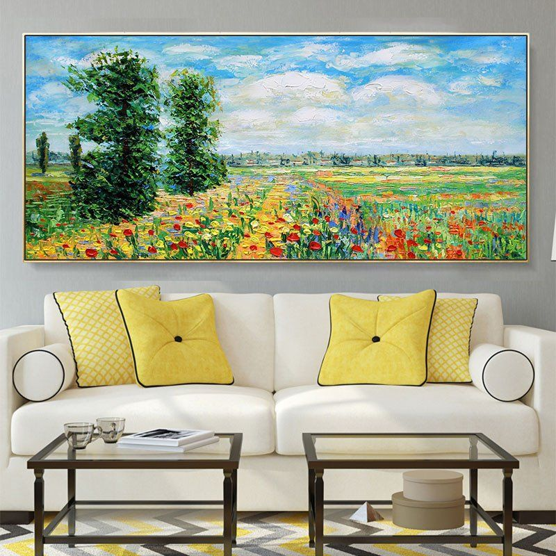 Painting For Living Room 101 54 Moneverty Landscape Pure Hand Painted Impression Oil In 2020 Living Room Paint Living Room Design Layout Small Living Room Decor Great paintings for living room