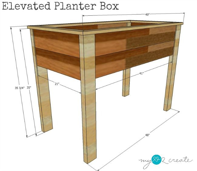 Make Your Own Elevated Planter Box With Free Building 400 x 300