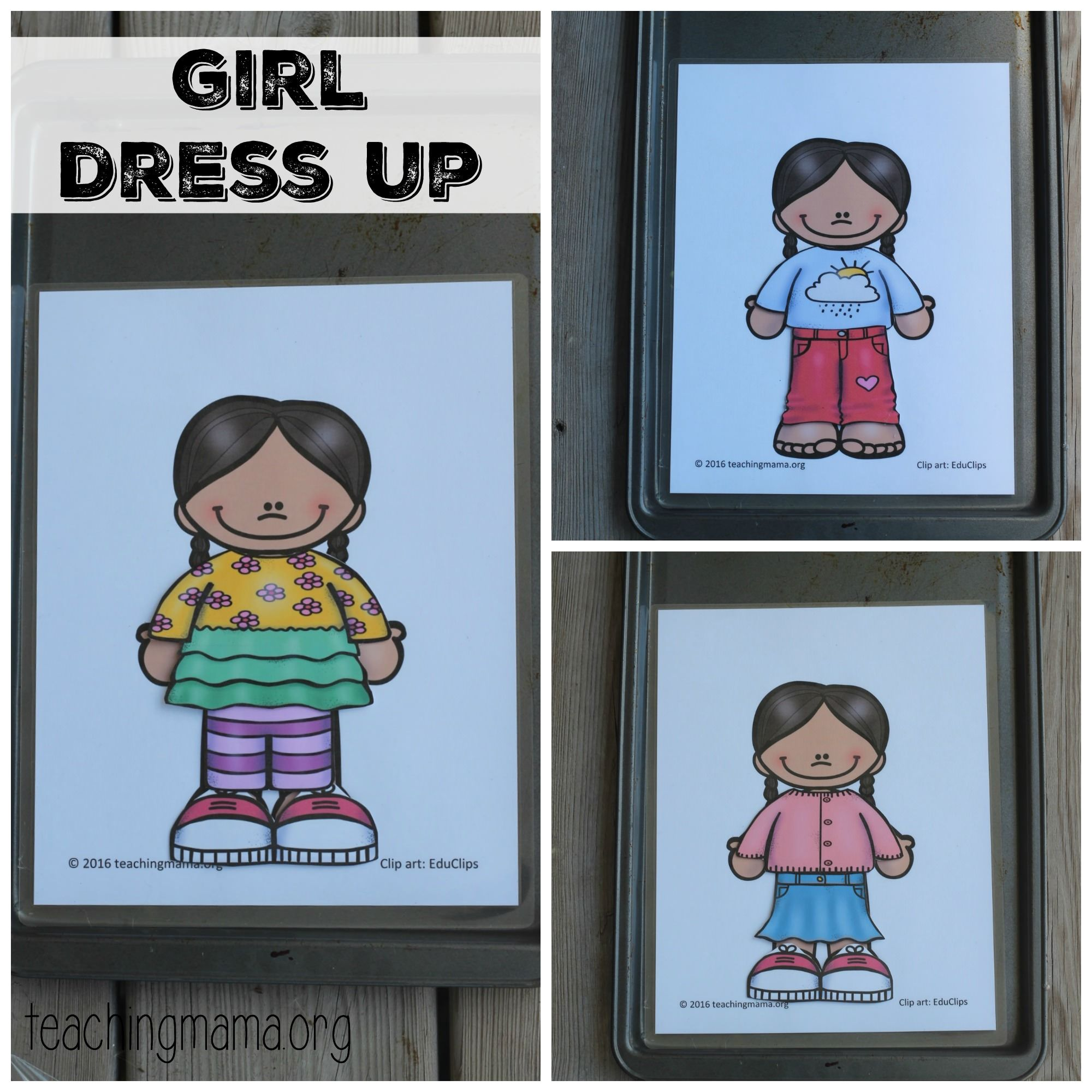Spring Clothes Dress Up Busy Bag