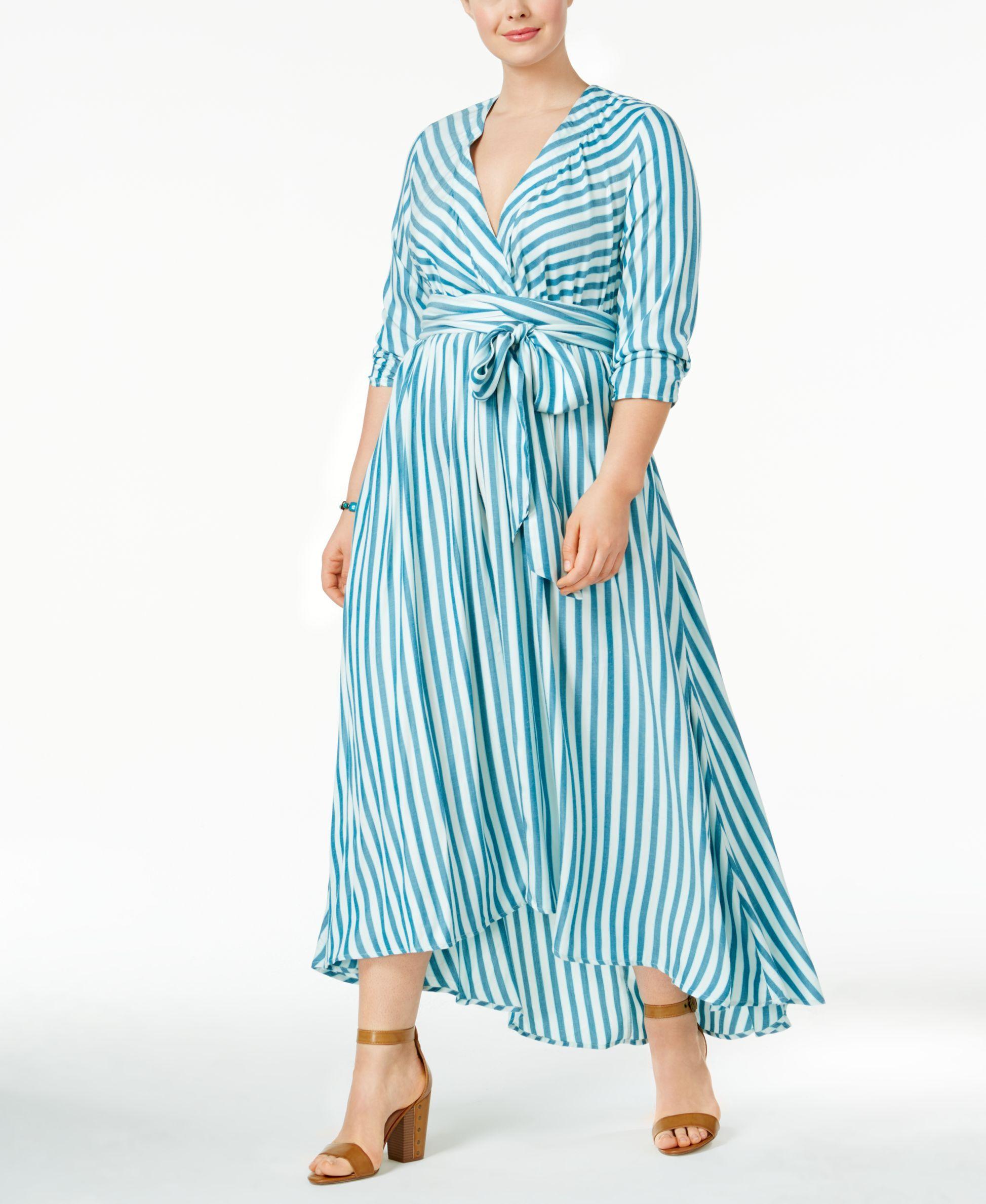 abd7b1f4651 Melissa McCarthy Seven7 Trendy Plus Size Faux-Wrap Maxi Dress ...
