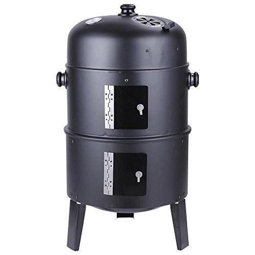 Triprel Inc. Patio Smoker Grill BBQ Backyard Firepit Charcoal Cooker Meat  Grilling Roasting **