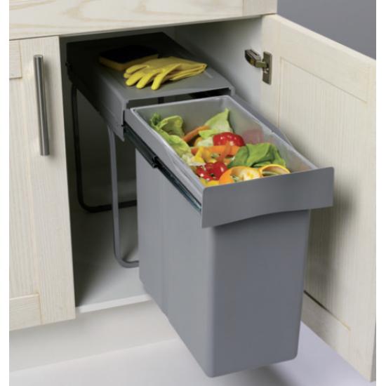 Cubo basura extraible gran capacidad 28 litros cocinas - Cubo basura cocina ...