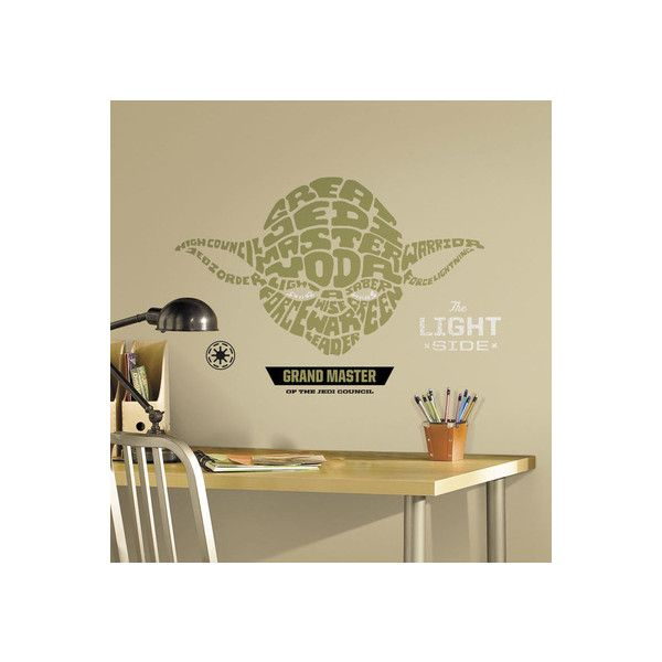 Star Wars - Typographic Yoda Peel and Stick Giant Wall Decal Wall ...
