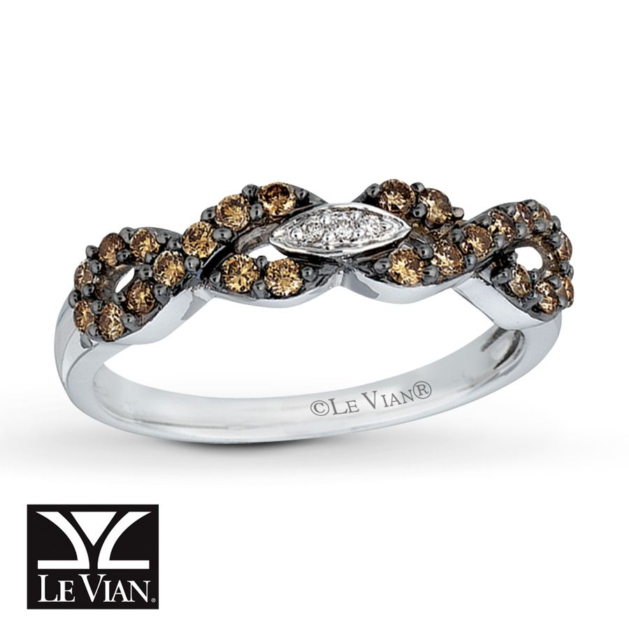 Kay LeVian Chocolate Diamonds 38 carat Ring 14K Vanilla Gold go