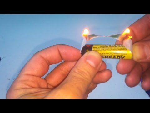 Make Fire Using Gum And A Battery Youtube Life Hacks Simple