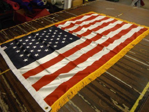 3x5 Ft Indoor Us American Flag With Gold Fringe Us Made By American Flag Superstore 24 99 3x5 Ft Indoor Us A American Flag Outdoor Flags American Flag Print