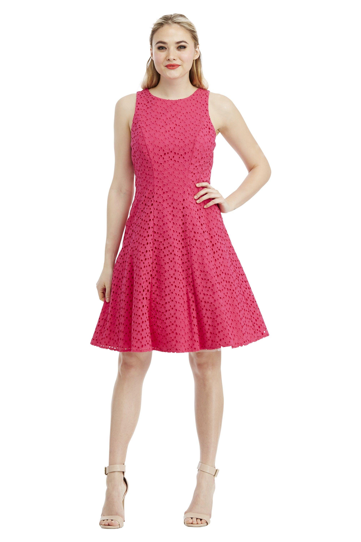 6fafd1c64d7 Maggy London Rose Textured Eyelet Feminine Flare Dress