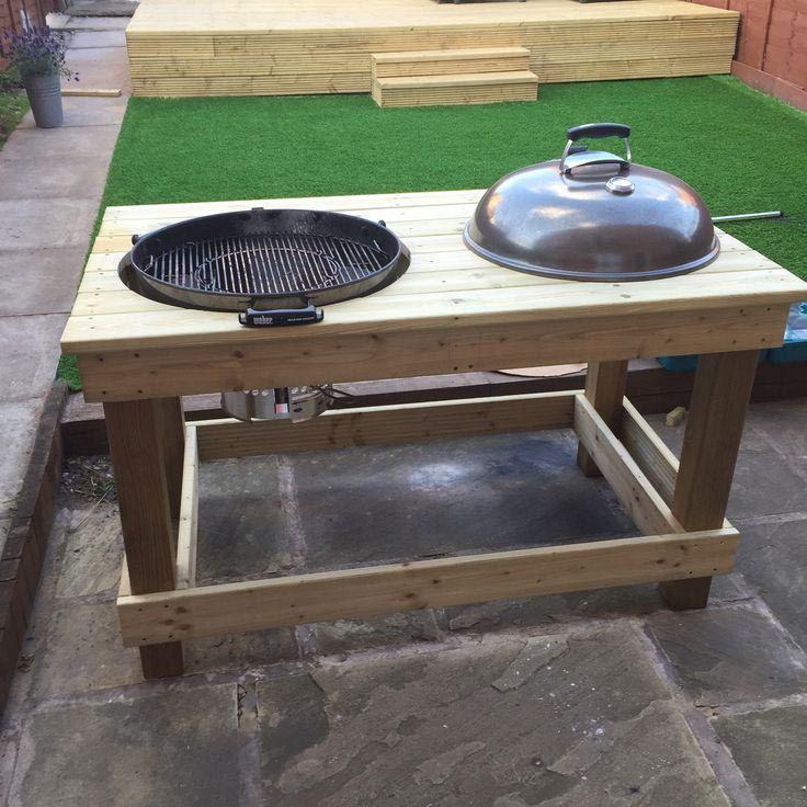 Diy Bbq Prep Table Diy Bbq Weber Grill Table Diy Grill Cart