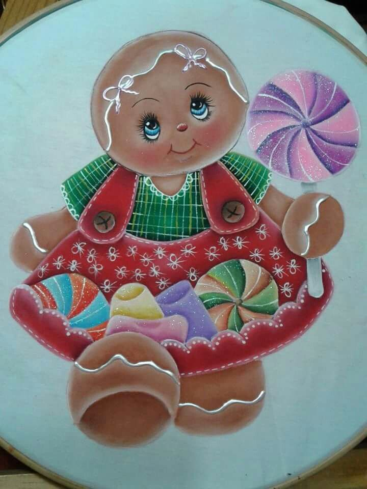 Pin By Moira Adams On Cute Animals Painting Gingerbread Crafts Christmas Paintings Tole Painting Patterns