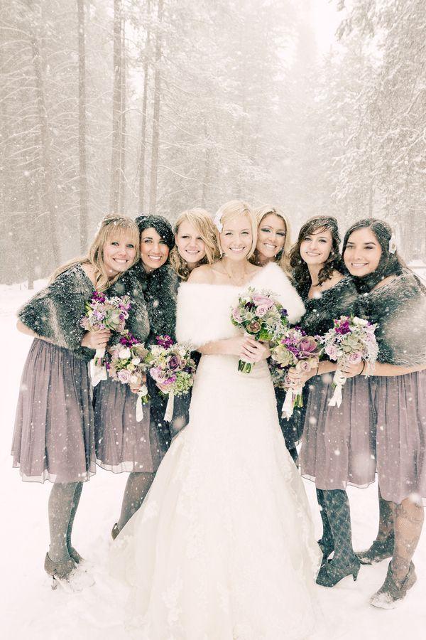 Snowy Winter Wedding by Jennifer Eileen   Boda, Nieve y Novios