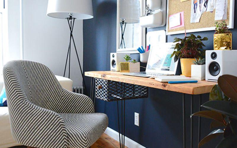 Wandfarbe Arbeitszimmer ~ Style girlfriends stylish home office