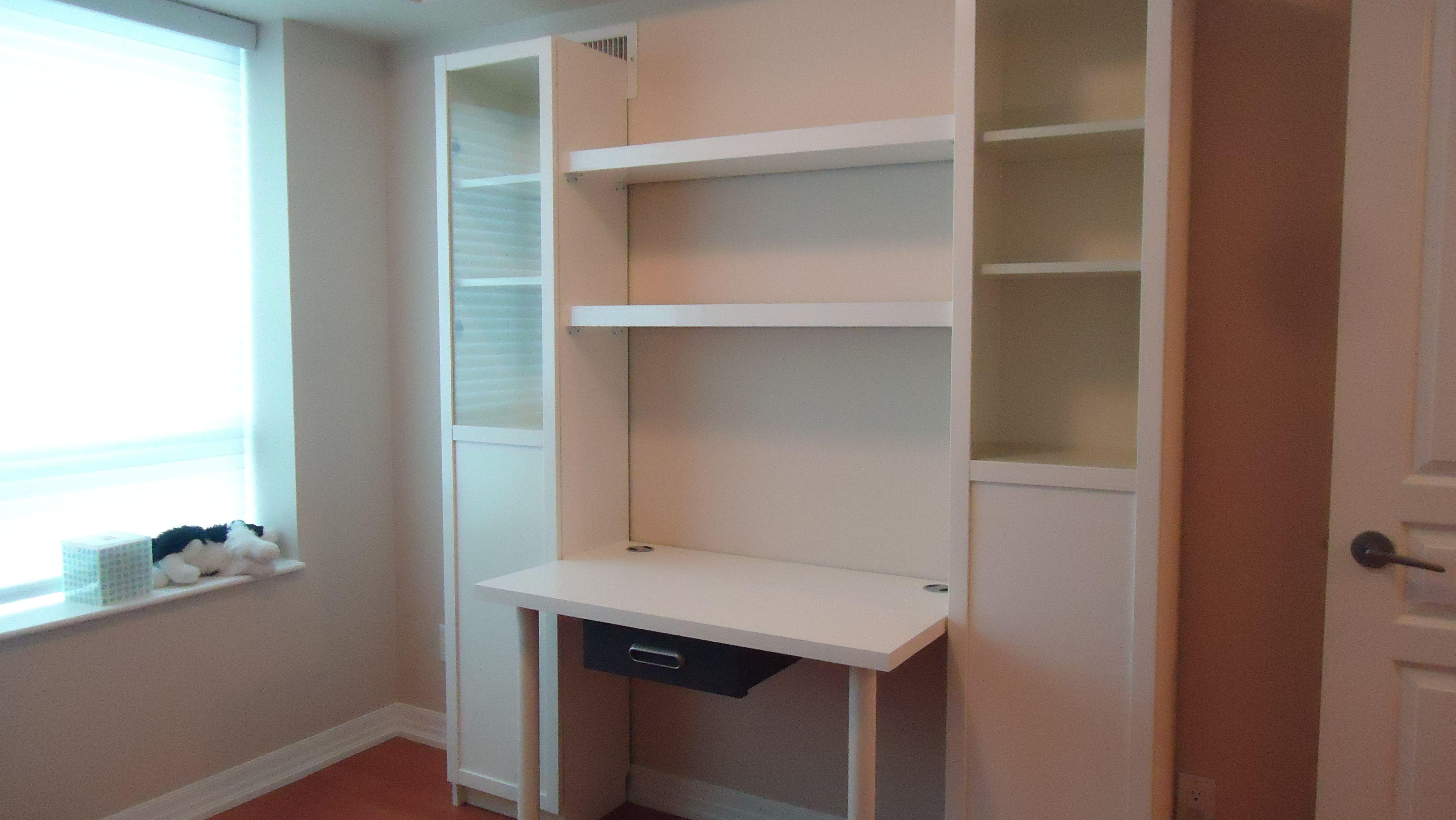 Billy Bookcase Desk: Desk With Billys