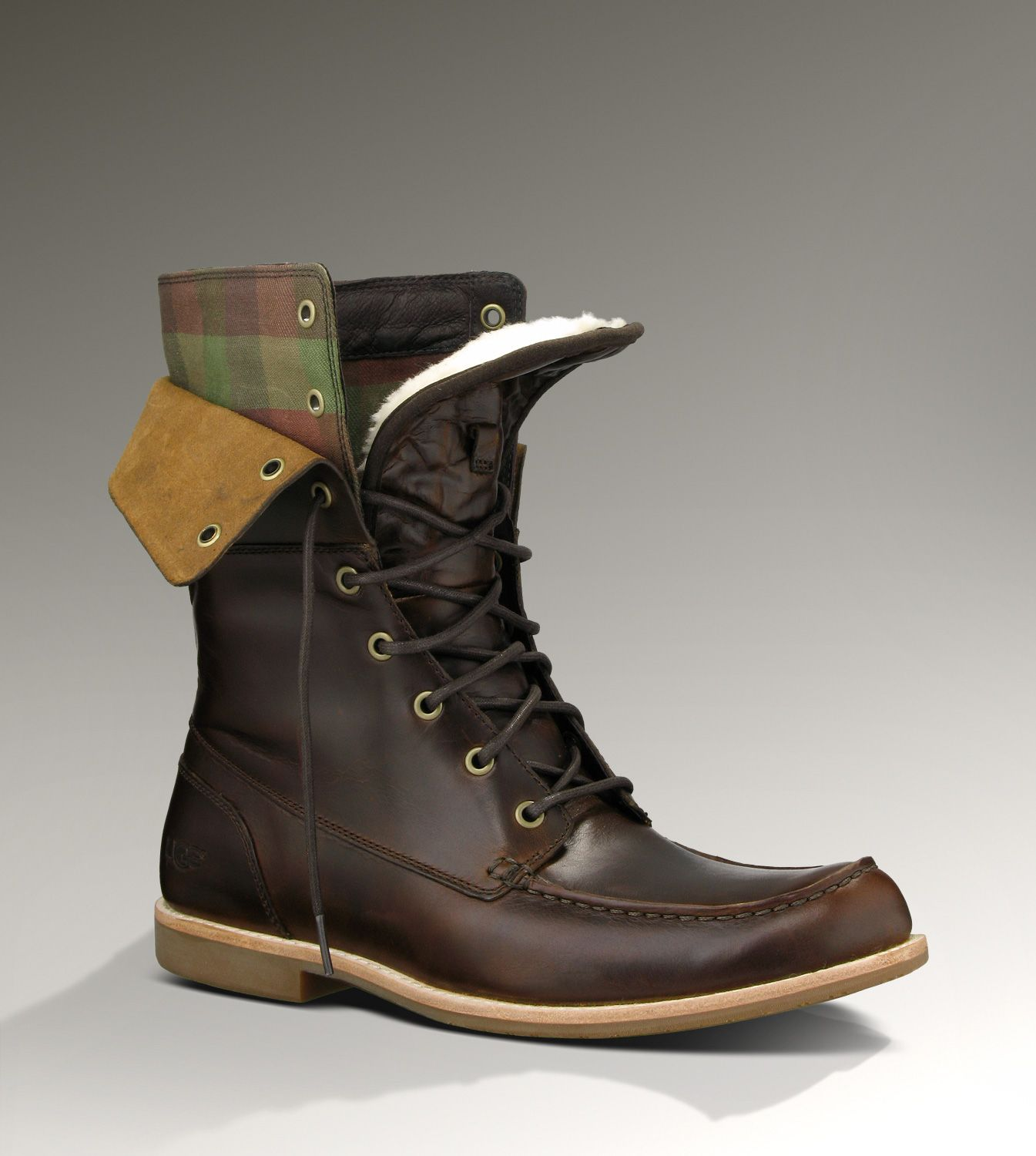 UGG® Via Maggio for Men | Leather Fold Over Boots for Men ...