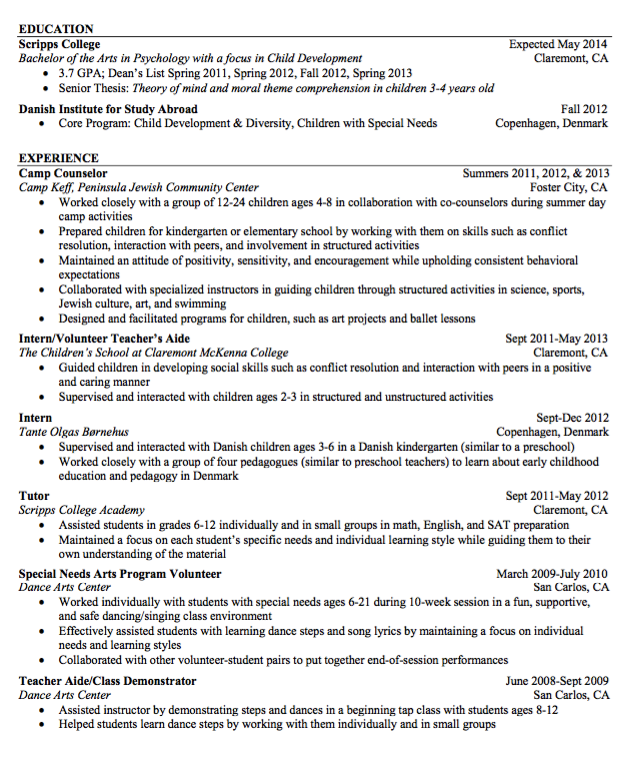 Sample Teacher Aide Resume  HttpExampleresumecvOrgSample
