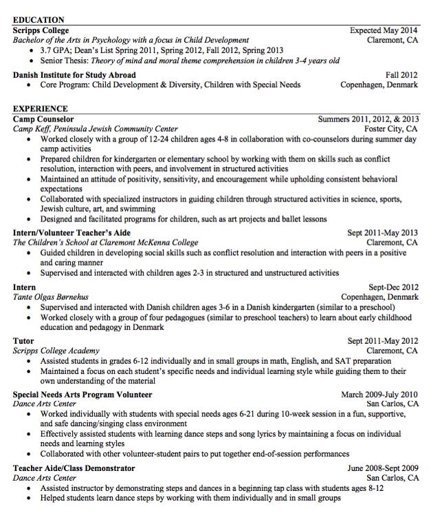sample teacher aide resume http exampleresumecv org sample