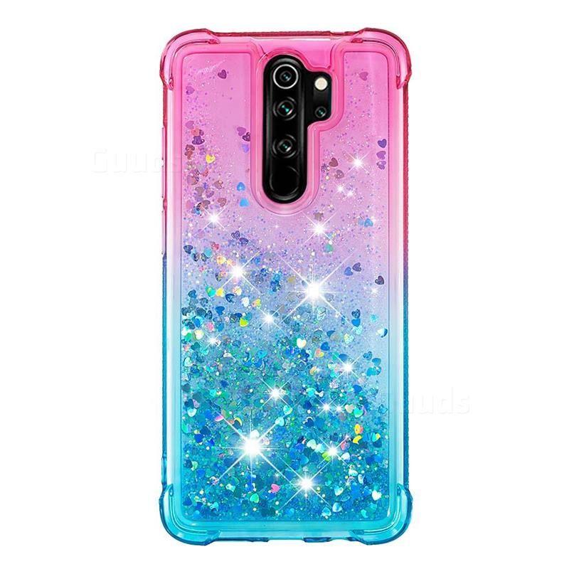 Rainbow Gradient Liquid Glitter Quicksand Sequins Phone Case For Mi Xiaomi Redmi Note 8 Pro Pink Blue Xiaomi Redmi Note 8 Pro Cases Guuds Phone Cases Xiaomi Case