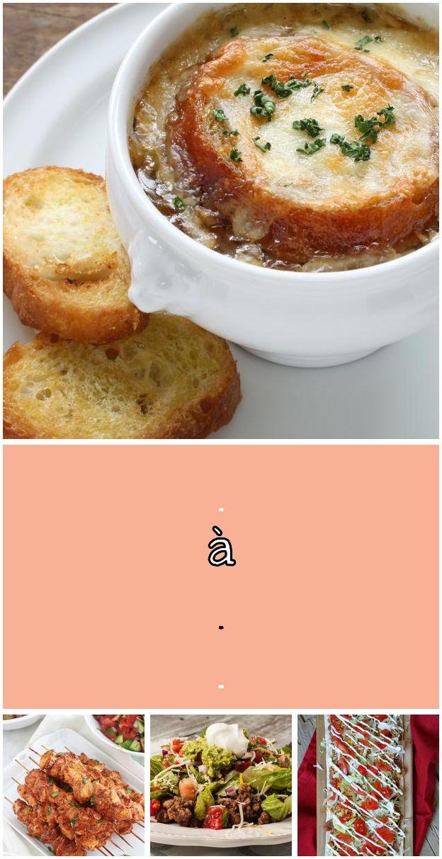 Soupe à l'oignon traditionnelle. Soupe à l'oignon - The