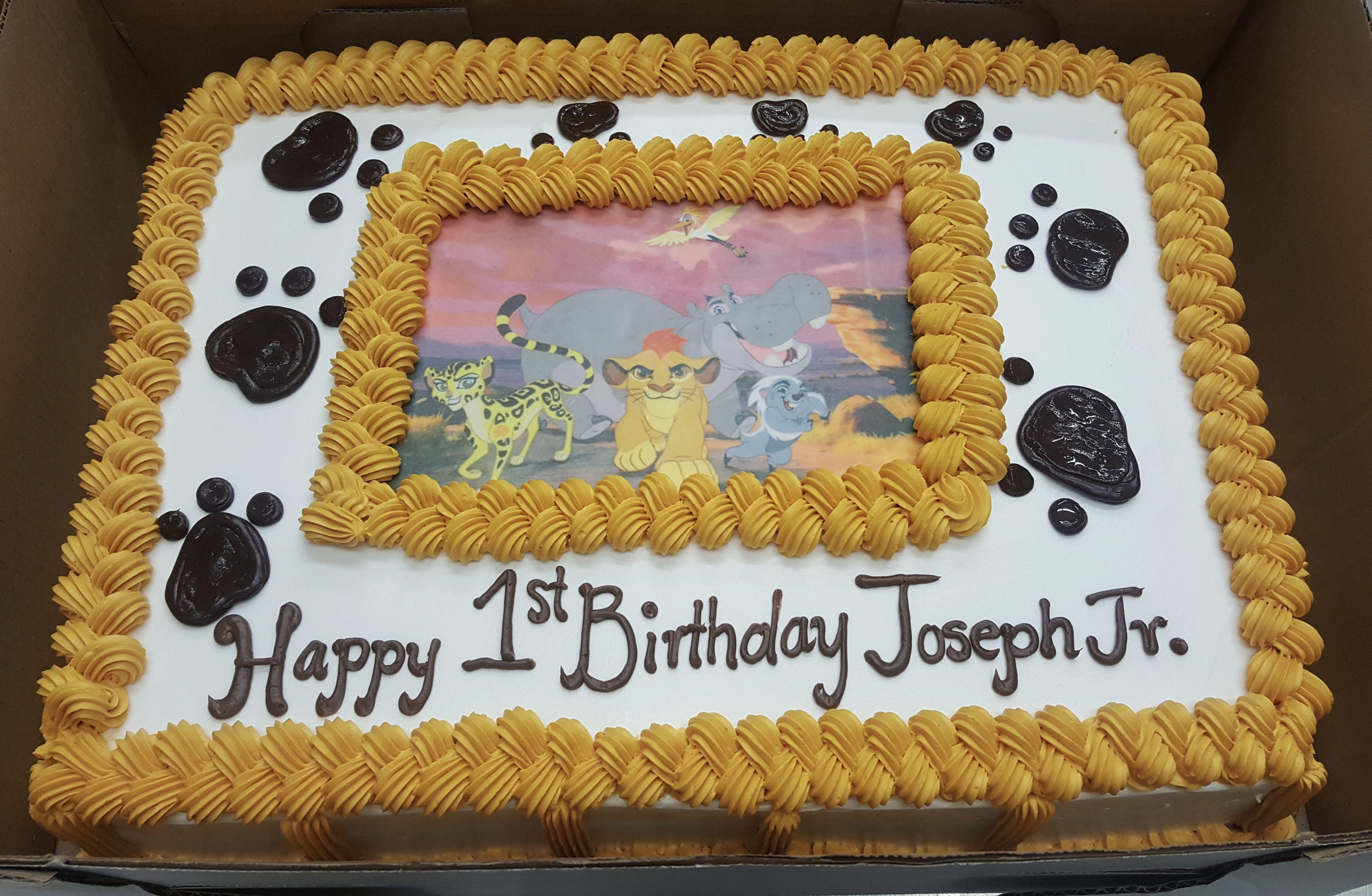 Calumet bakery lion guard 1st birthday 1st birthday