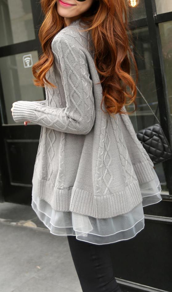 Nice To Meet You Organza Knit Sweater | Sweaters | Pinterest | Met ...